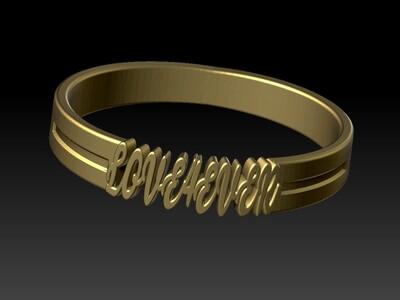 永远爱你戒子-3d打印模型