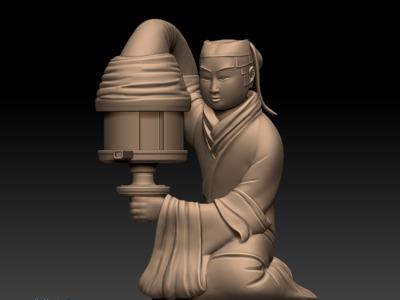 长信宫灯-3d打印模型