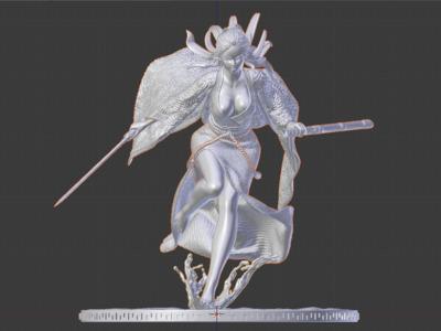 剑女-3d打印模型