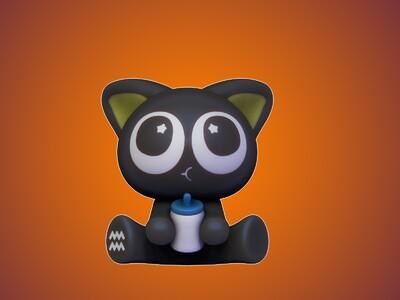 罗小黑-十二星座-水瓶座-3d打印模型