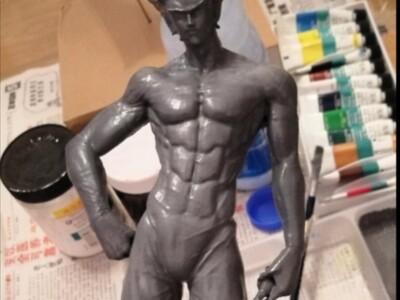 一击男 一拳中的 饿狼 恶狼-3d打印模型