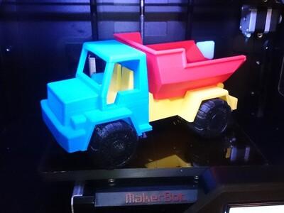 翻斗车-3d打印模型