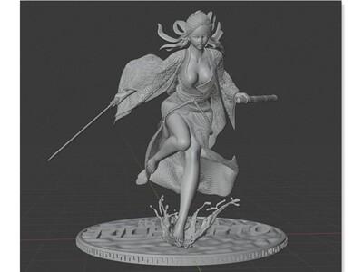 锐辰光电-侠女-3d打印模型