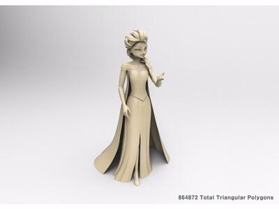公主 冰雪 奇缘-3d打印模型