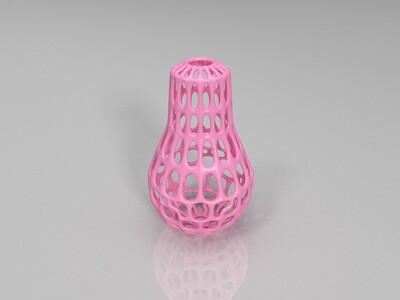 镂空灯泡摆件装饰-3d打印模型