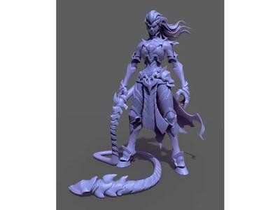 鞭子女-3d打印模型