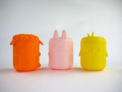 萌宠收纳罐-3d打印模型