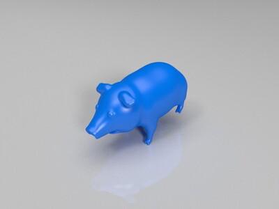 可爱的猪-3d打印模型
