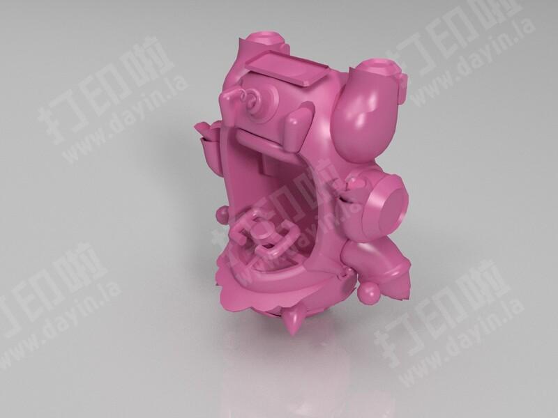跑跑卡丁车-金福猪-3d打印模型