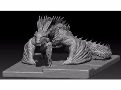冰与火 龙妈和龙-3d打印模型