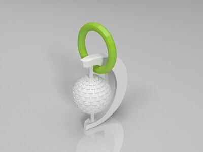 特色耳环 项链  自开发用途挂件-3d打印模型
