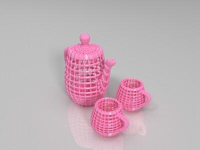 特色茶具摆件-3d打印模型