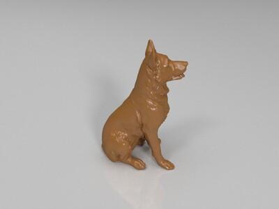 狼狗德牧忠犬黑背-3d打印模型