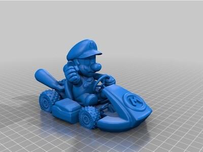 开车的马里奥-3d打印模型