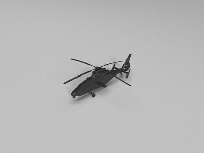 wz-19武装直升机-3d打印模型