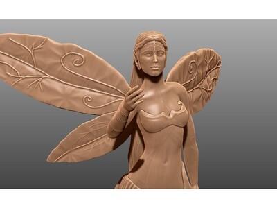 天使,女,手办-3d打印模型