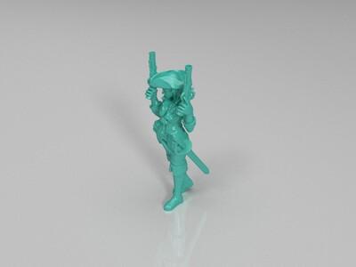 海盗女孩,手办,-3d打印模型