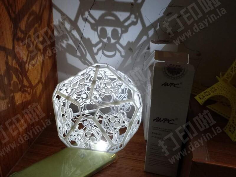 海贼王组合缕空灯(草帽图案)-亦可原创-3d打印模型