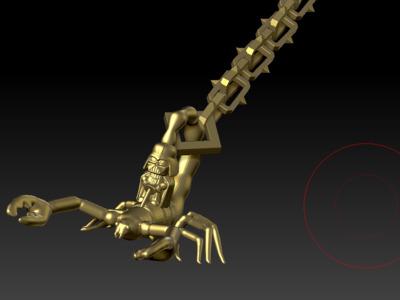 特色毒蝎黑武士特色挂件-3d打印模型