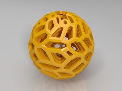 套套求 镂空球 -3d打印模型