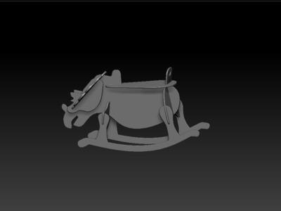 犀牛晃晃椅-3d打印模型
