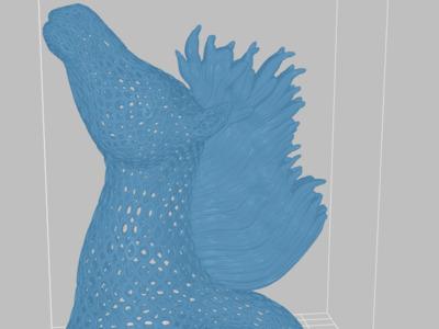 镂空半身马雕塑-3d打印模型