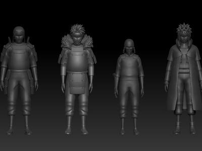 火影忍者历代火影-3d打印模型