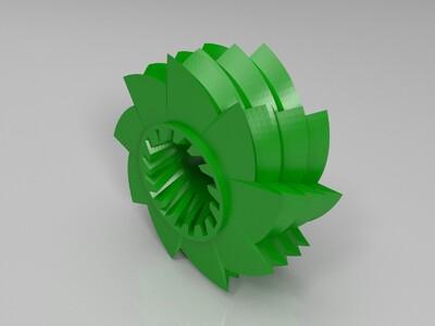 锯齿轮玩具 -3d打印模型