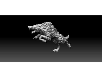 狼-3d打印模型
