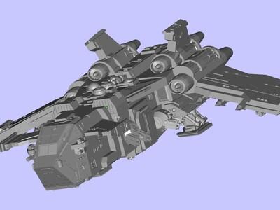 战锤 飞船-3d打印模型