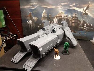 战锤 运输飞船-3d打印模型