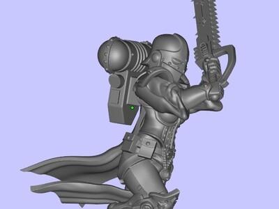 战锤 女剑士-3d打印模型