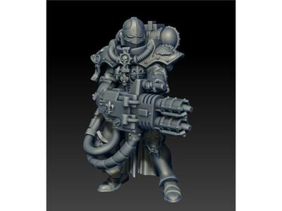 战锤 女战士-3d打印模型