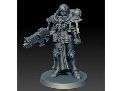 战锤 战斗修女2-3d打印模型