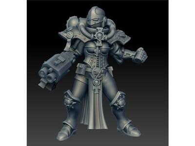 战锤 战斗修女3-3d打印模型