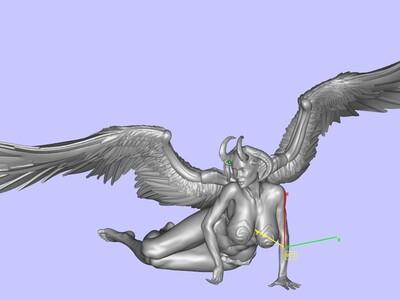 天使与魔鬼-3d打印模型