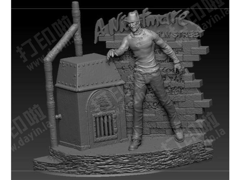 弗雷迪·克鲁格  榆树街的噩梦-3d打印模型