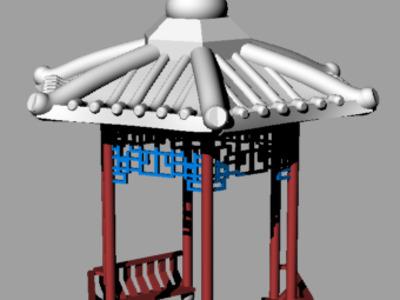 牡丹亭-3d打印模型