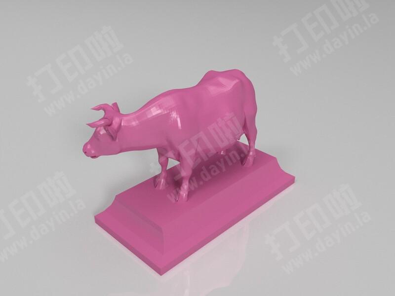 公牛 母牛-3d打印模型