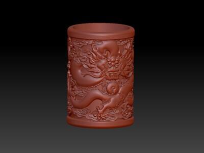 龙游四海笔筒-3d打印模型