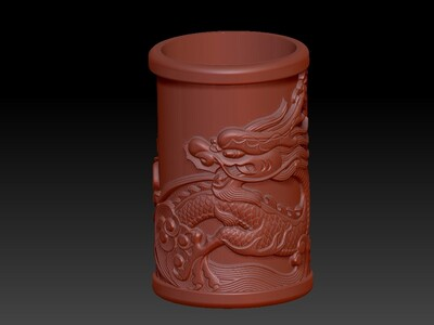 镇宅之宝-单龙-3d打印模型