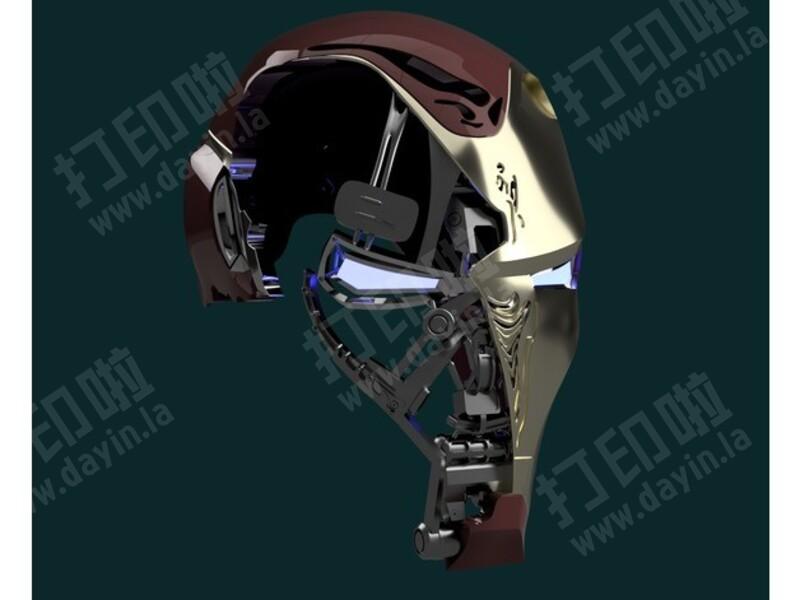 钢铁侠Mark50战损头盔-3d打印模型