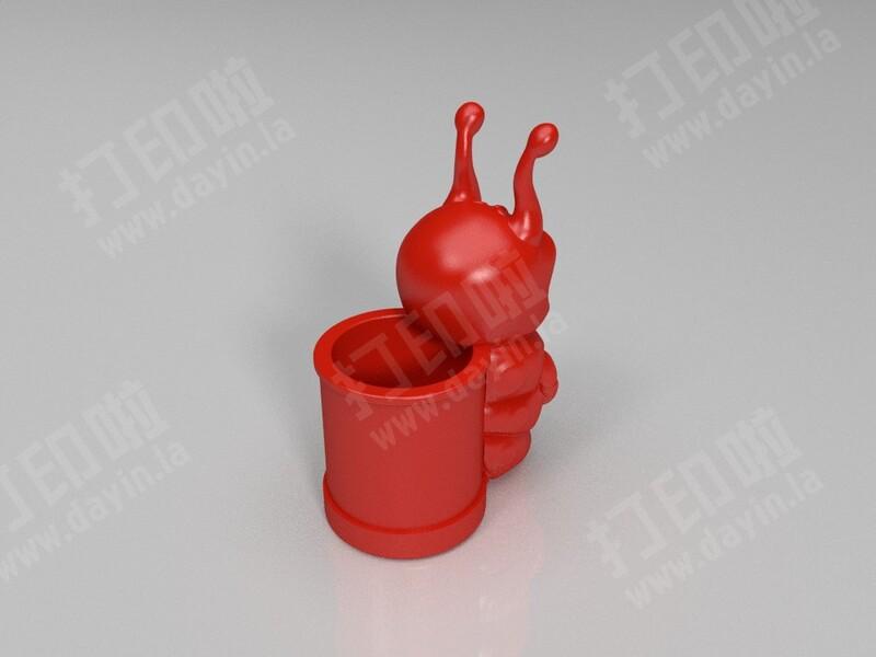 糖宝笔筒-3d打印模型