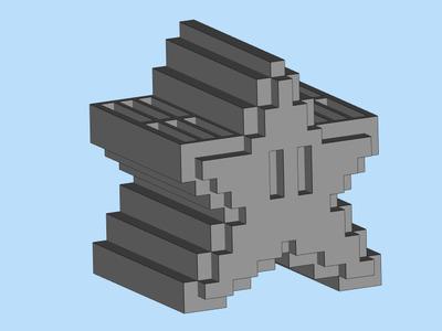 sd卡卡座卡盒-3d打印模型
