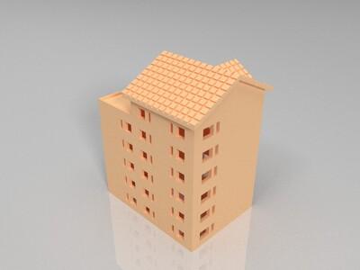 建筑住宅民房-3d打印模型