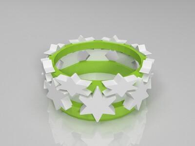 星星手环-3d打印模型