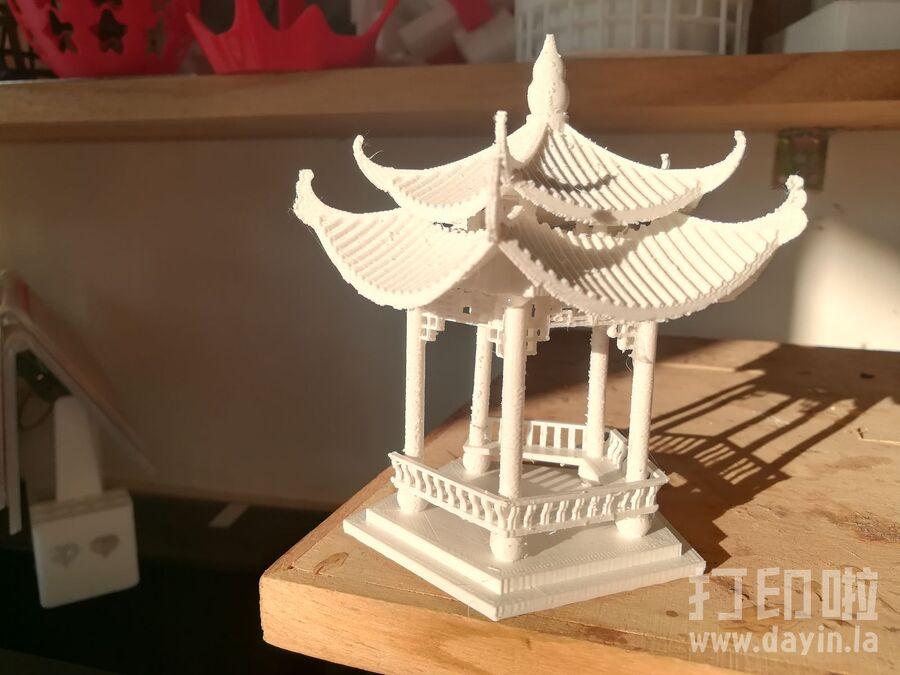 五角凉亭-3d打印模型