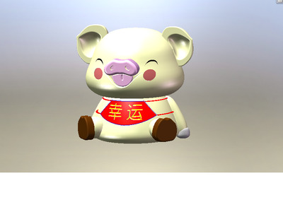 幸运小猪摆件-3d打印模型