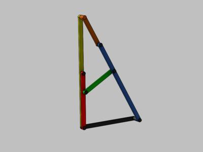 直行机构-3d打印模型