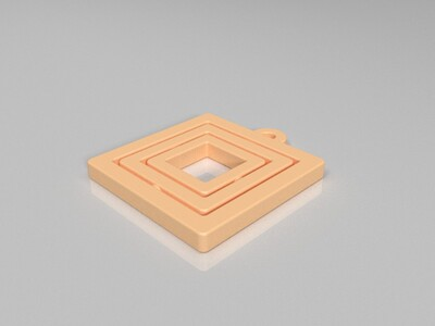 Gimbal 钥匙链-3d打印模型
